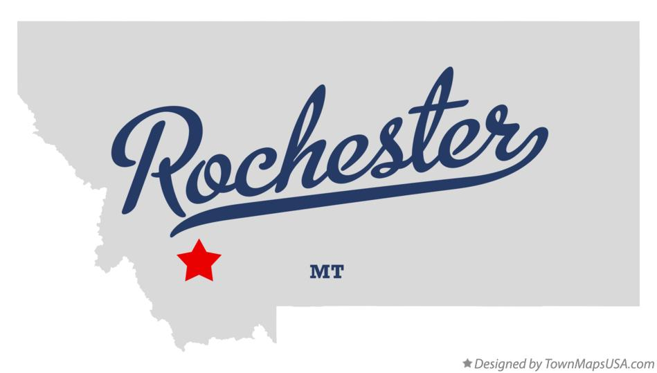 Map of Rochester Montana MT