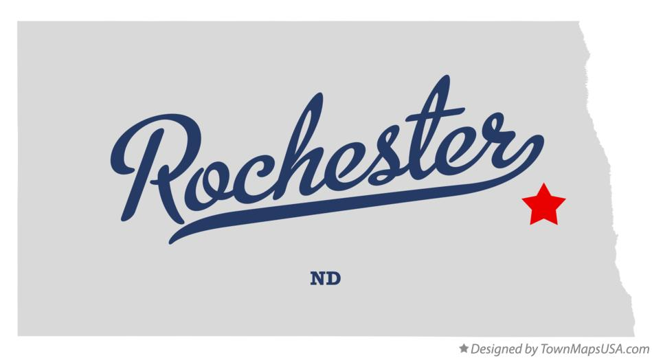 Map of Rochester North Dakota ND