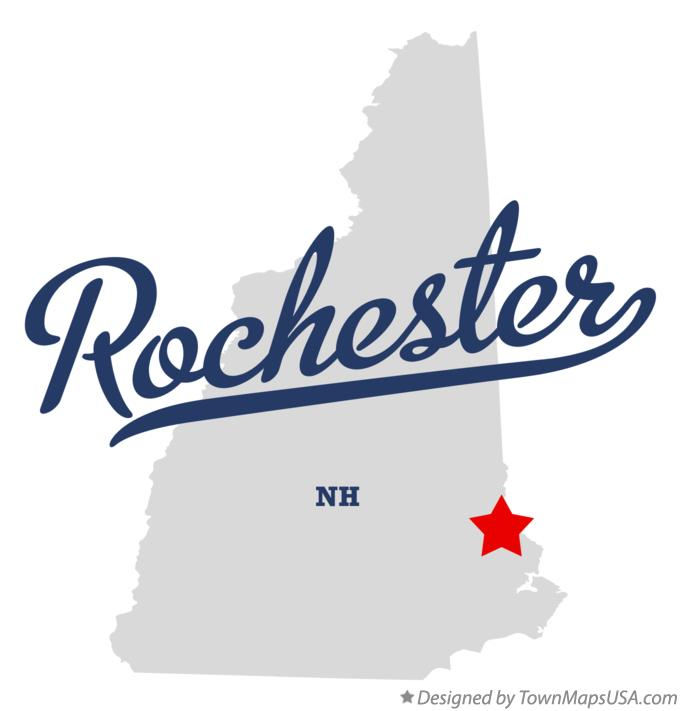 Map of Rochester New Hampshire NH