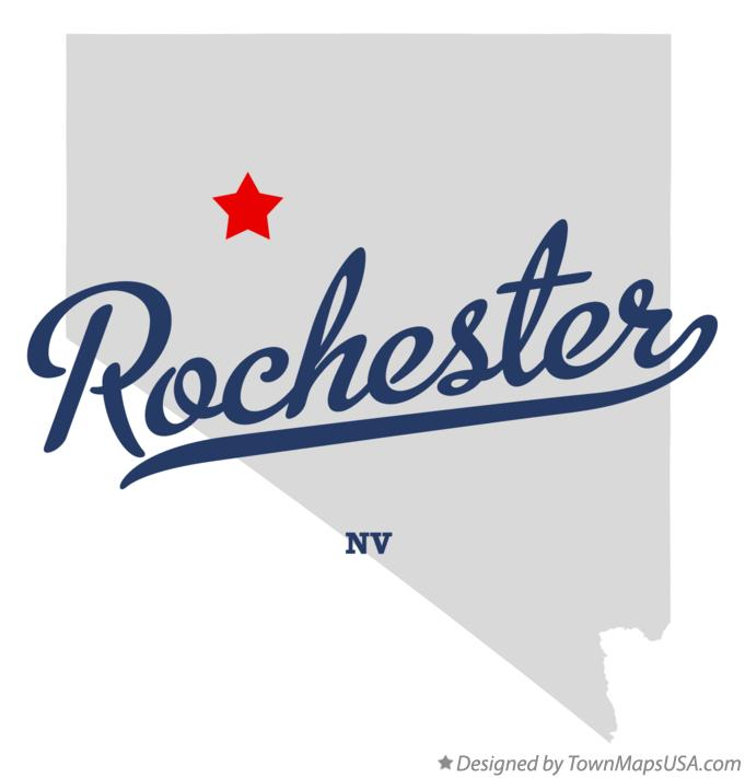 Map of Rochester Nevada NV