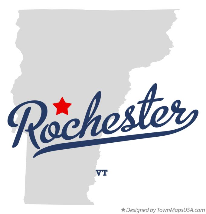 Map of Rochester Vermont VT