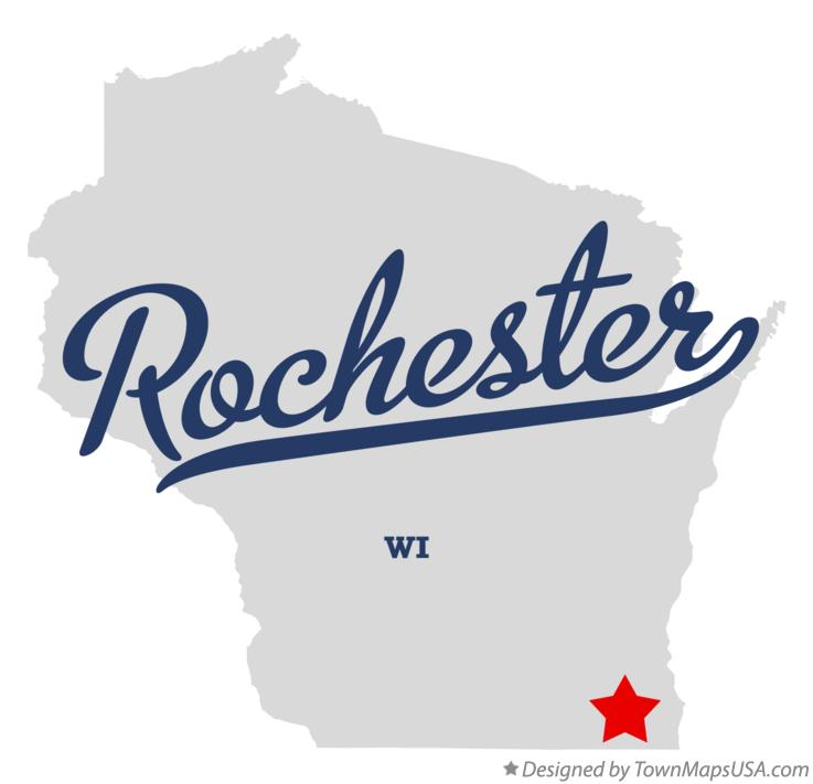 Map of Rochester Wisconsin WI
