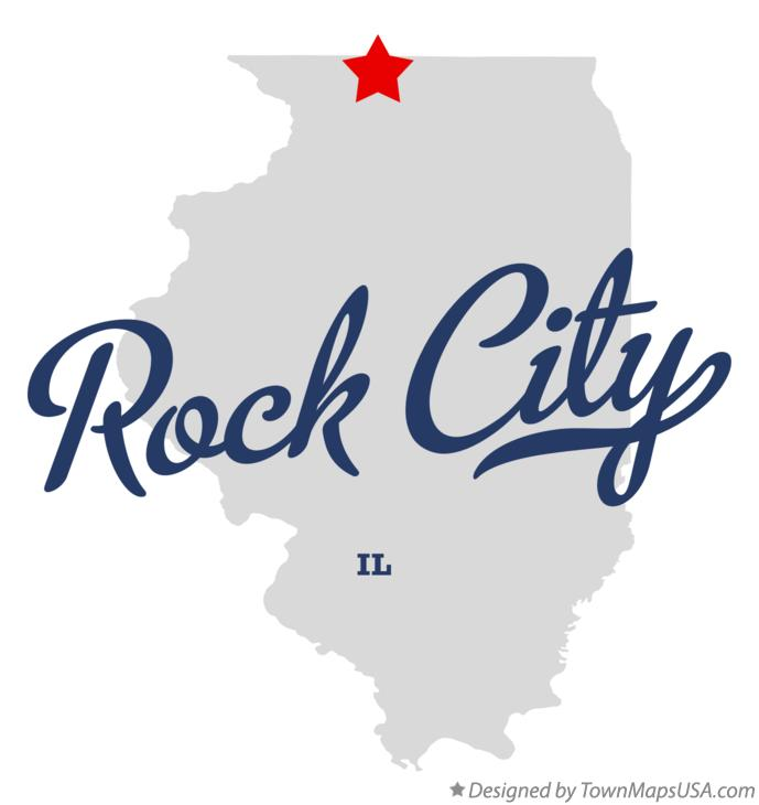 Map of Rock City Illinois IL