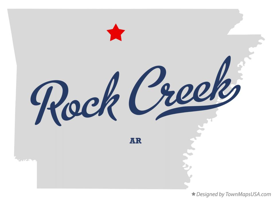 Map of Rock Creek Arkansas AR
