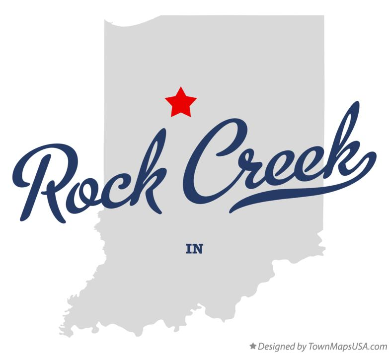 Map of Rock Creek Indiana IN