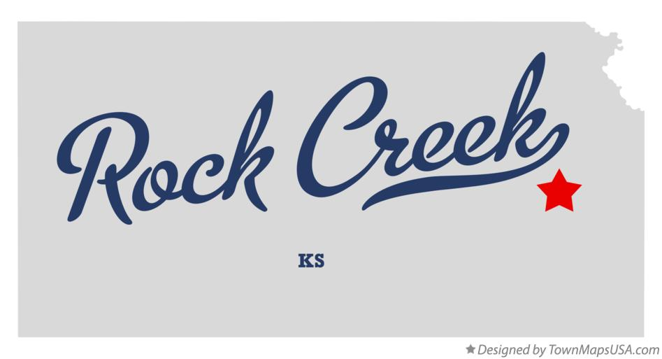 Map of Rock Creek Kansas KS