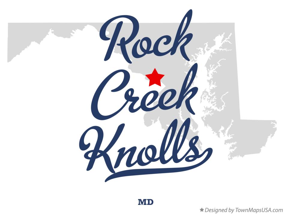 Map of Rock Creek Knolls Maryland MD