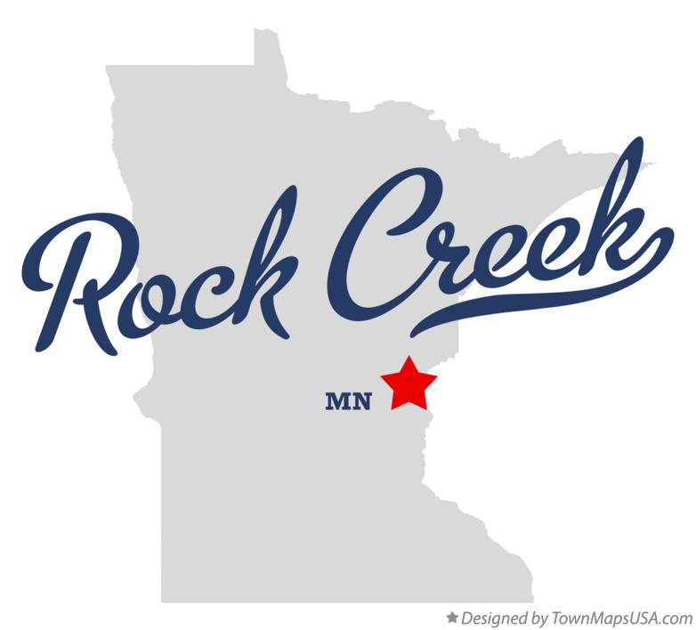 Map of Rock Creek Minnesota MN