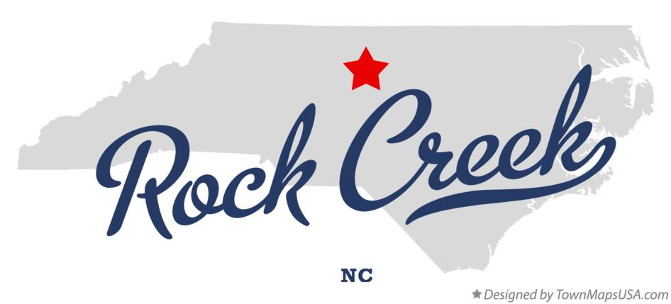 Map of Rock Creek North Carolina NC