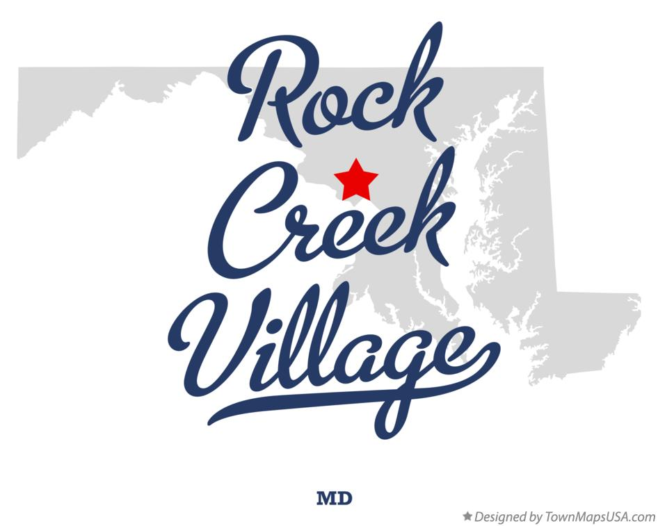 Map of Rock Creek Village Maryland MD