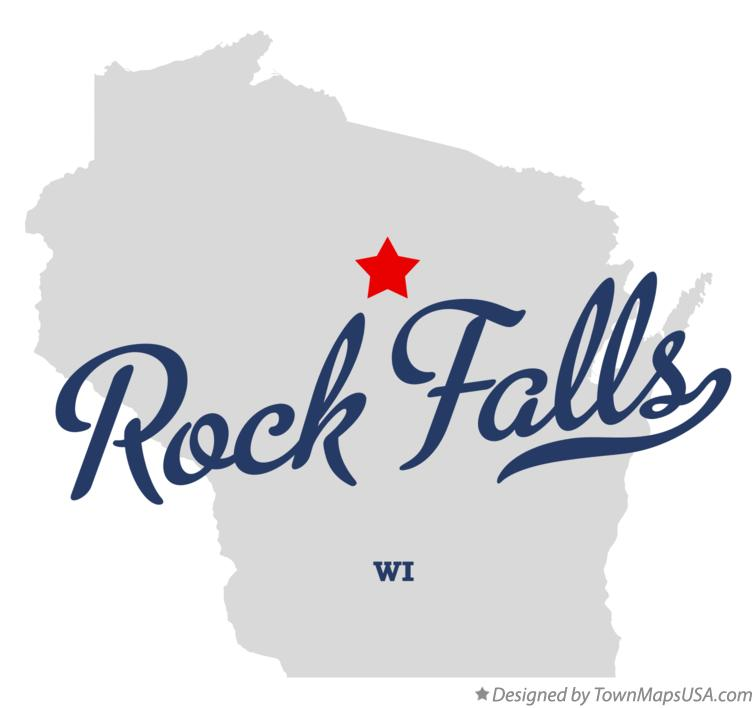 Map of Rock Falls Wisconsin WI