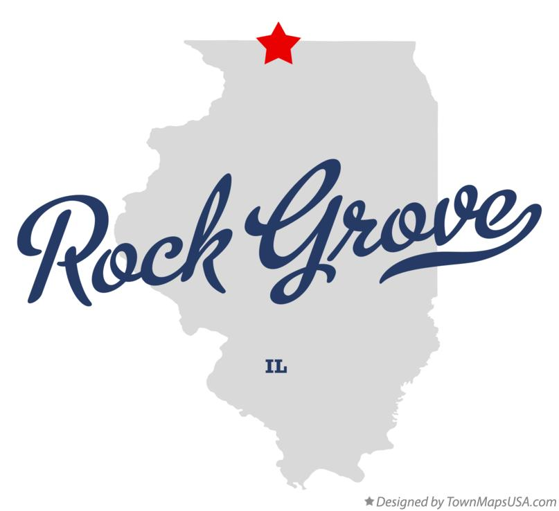 Map of Rock Grove Illinois IL