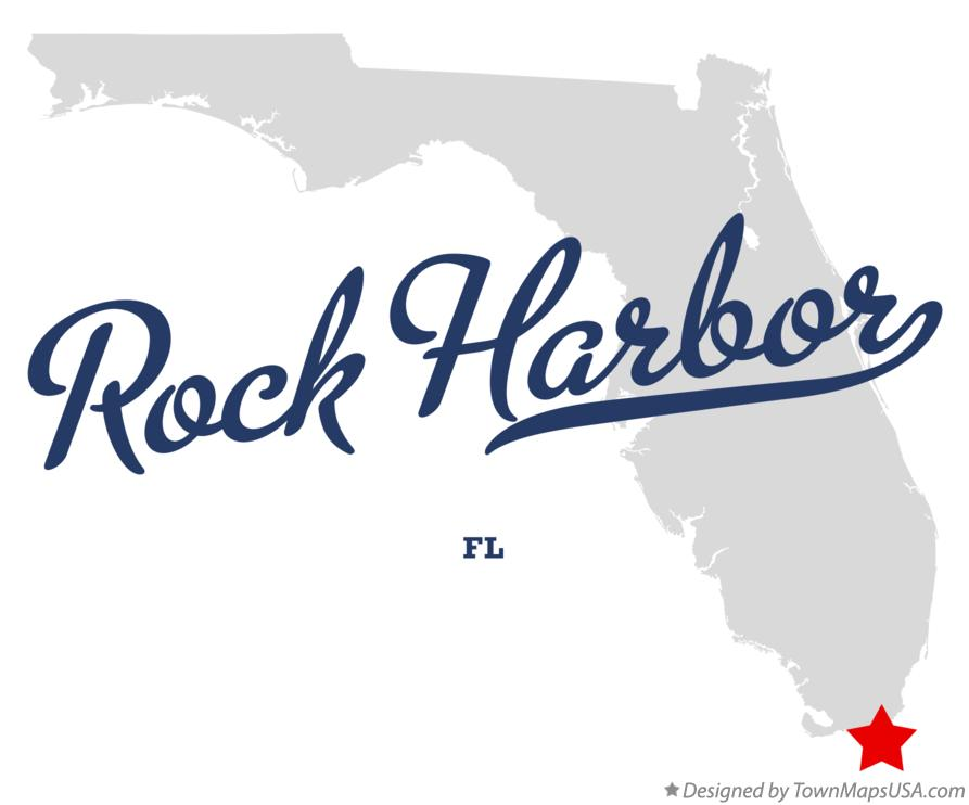 Map of Rock Harbor Florida FL