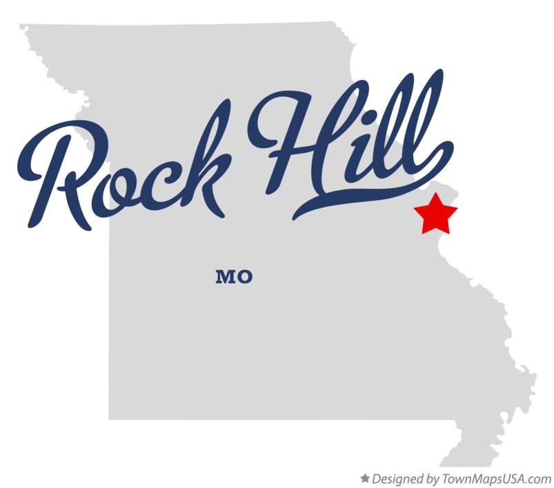Map of Rock Hill Missouri MO