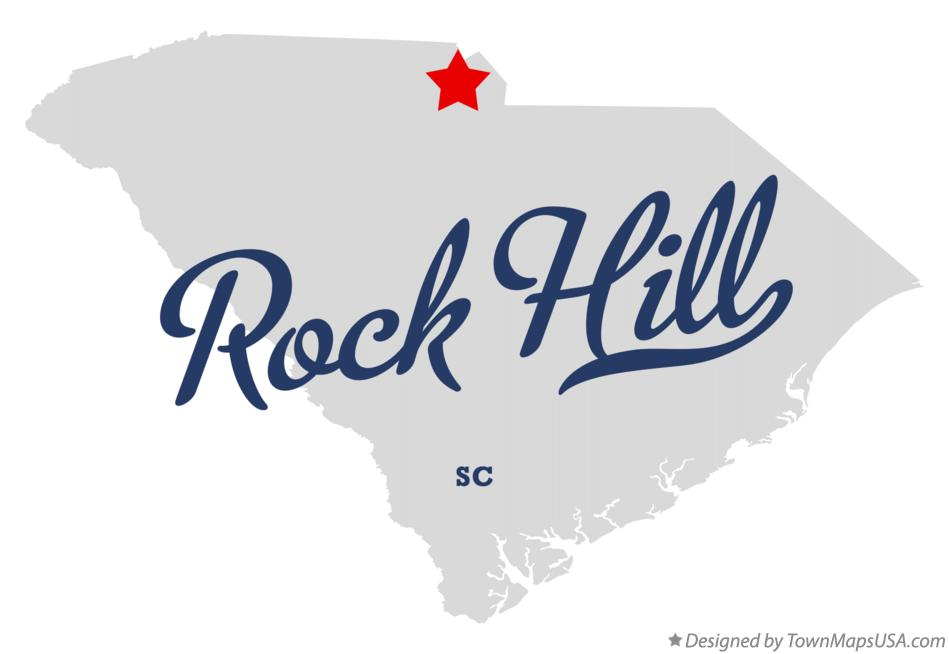 map of rock hill york county sc south carolina