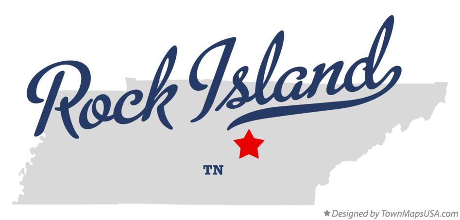 Map of Rock Island Tennessee TN
