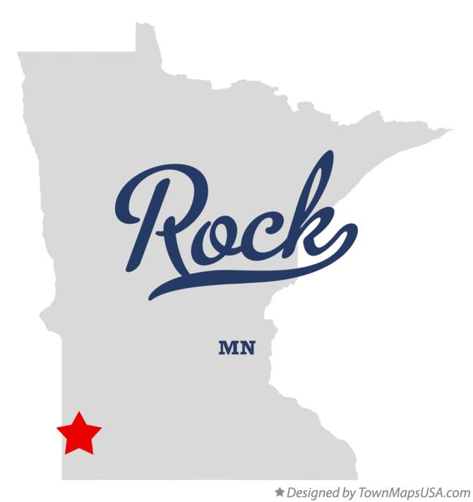 Map of Rock Minnesota MN