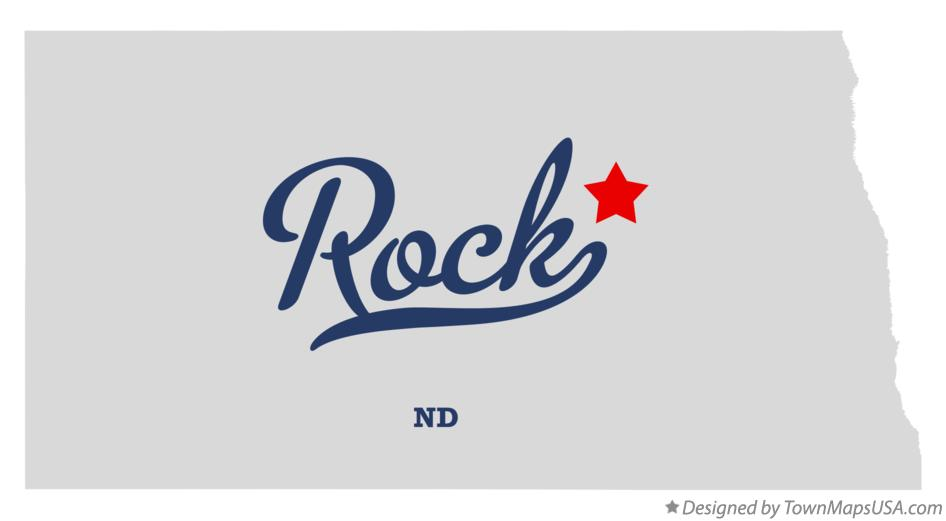 Map of Rock North Dakota ND