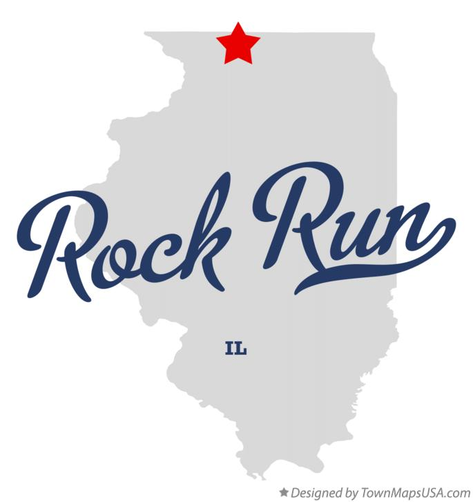 Map of Rock Run Illinois IL