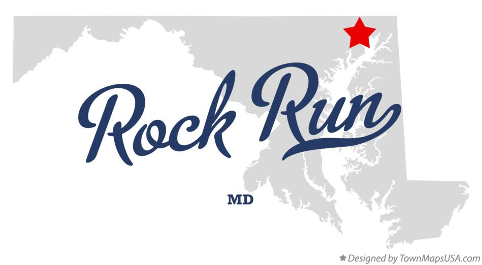 Map of Rock Run Maryland MD