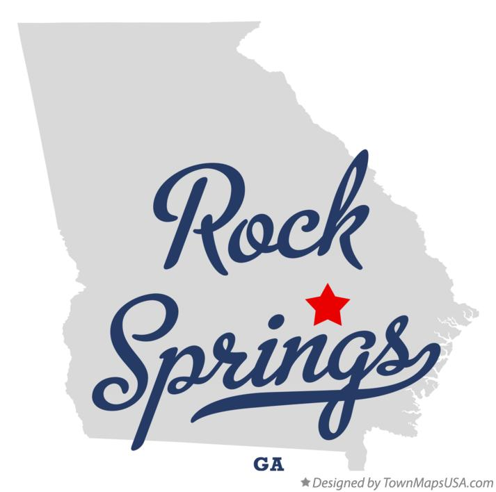 Map of Rock Springs Georgia GA