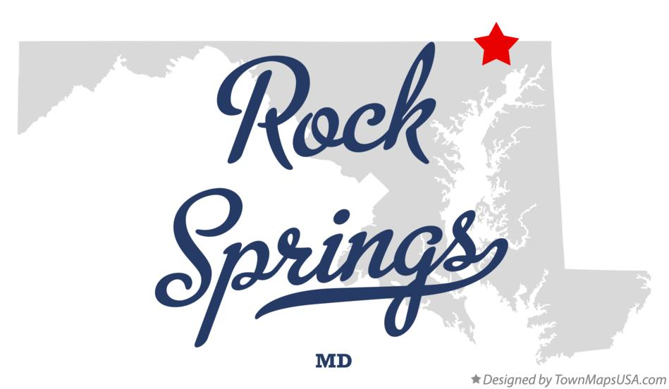 Map of Rock Springs Maryland MD