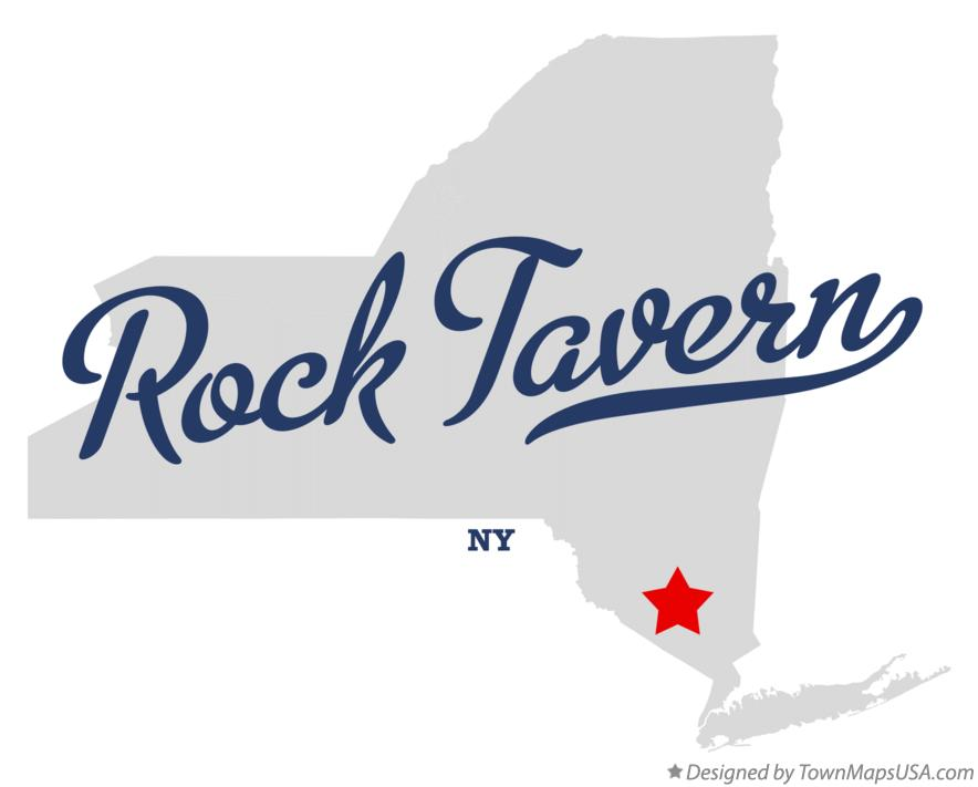 Map of Rock Tavern New York NY