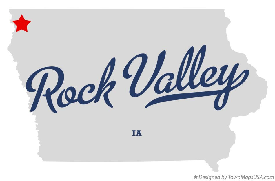 rock valley iowa map Map Of Rock Valley Ia Iowa rock valley iowa map