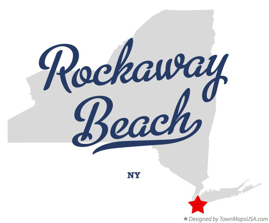 Map of Rockaway Beach New York NY