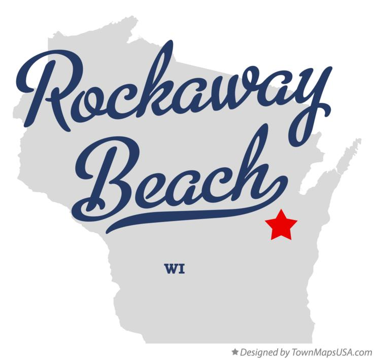 Map of Rockaway Beach Wisconsin WI