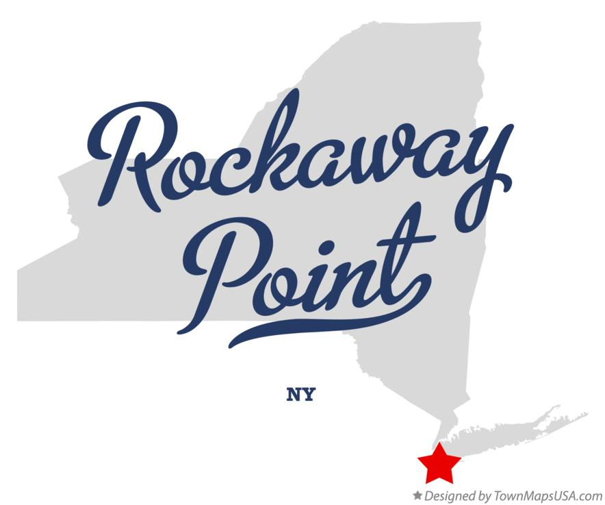 Map of Rockaway Point New York NY
