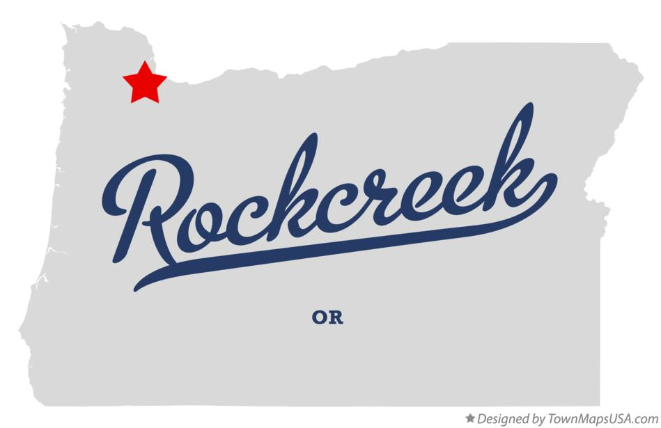 Map Of Rockcreek Or Oregon