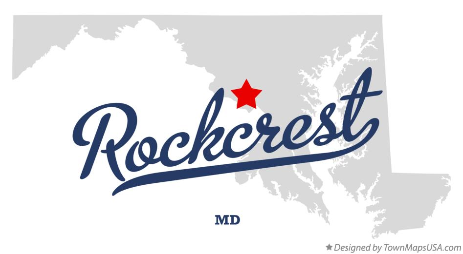 Map of Rockcrest Maryland MD