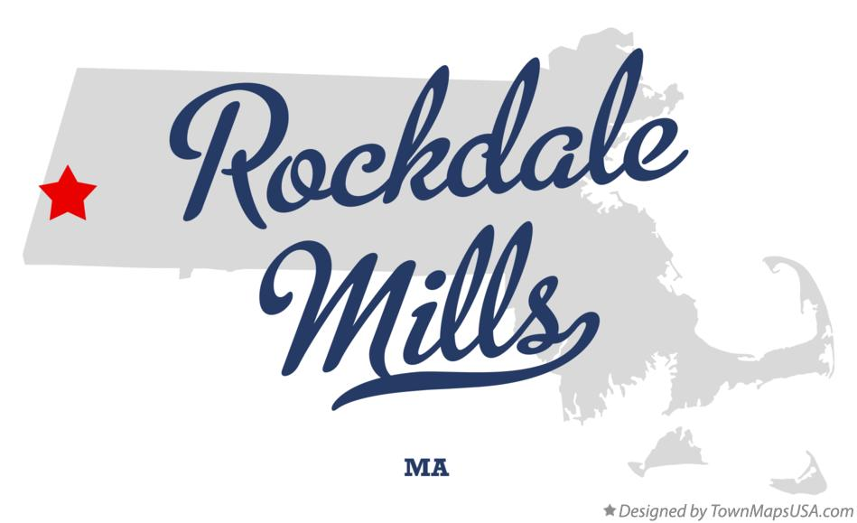 Map of Rockdale Mills Massachusetts MA