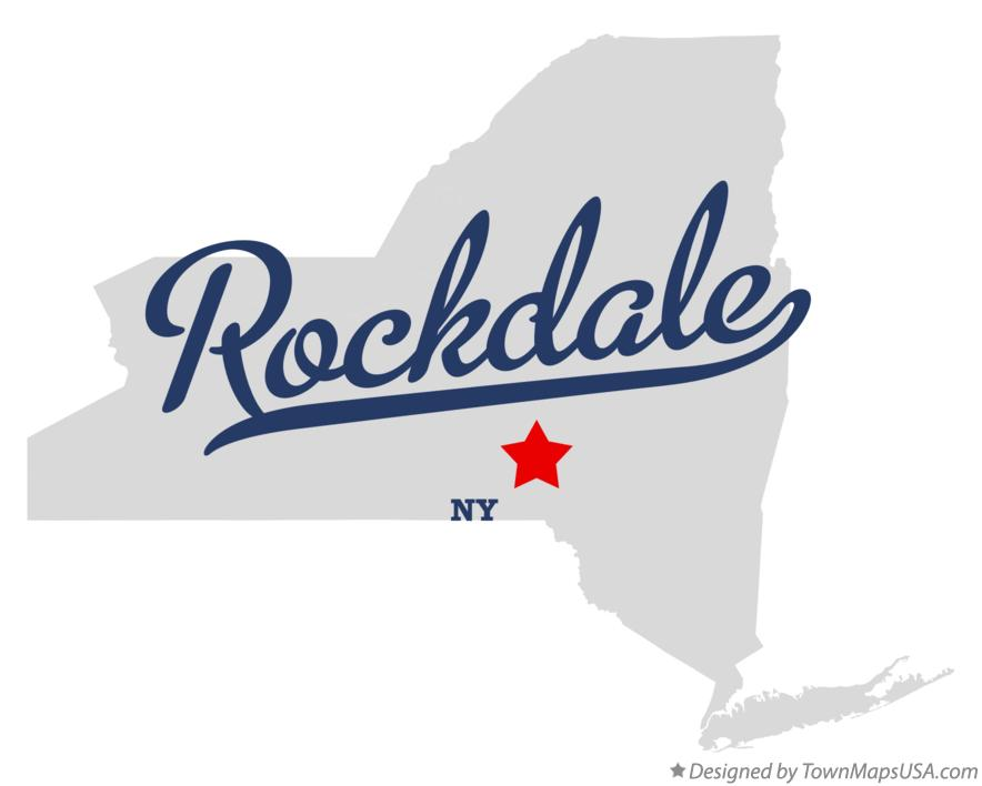 Map of Rockdale New York NY
