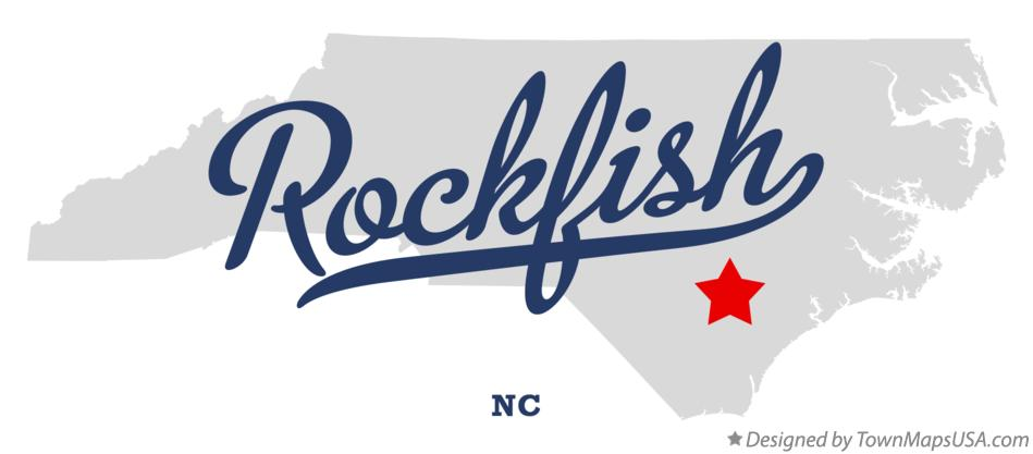 Map of Rockfish North Carolina NC