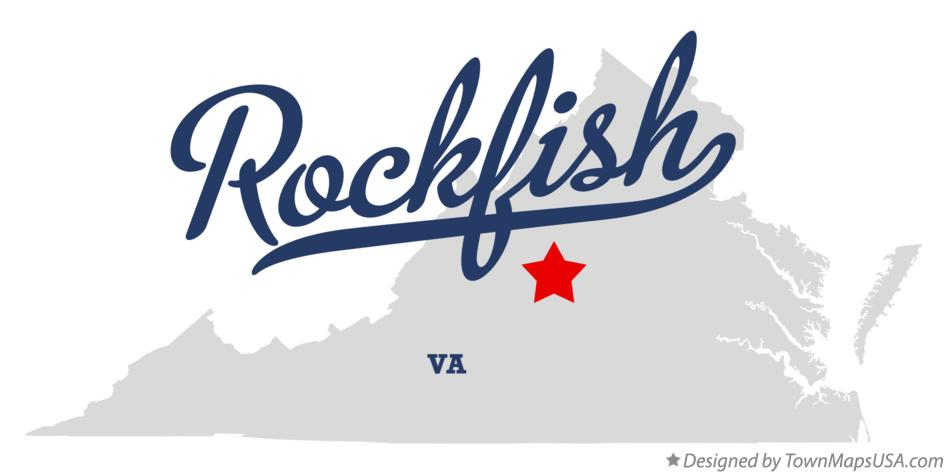 Map of Rockfish Virginia VA