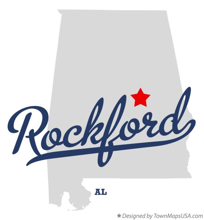 Map of Rockford Alabama AL