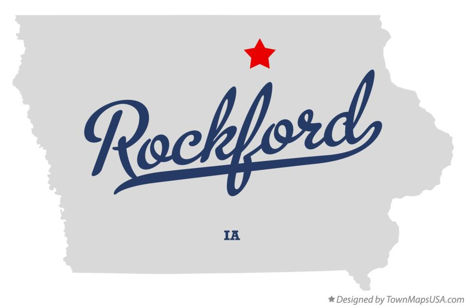 Map of Rockford Iowa IA
