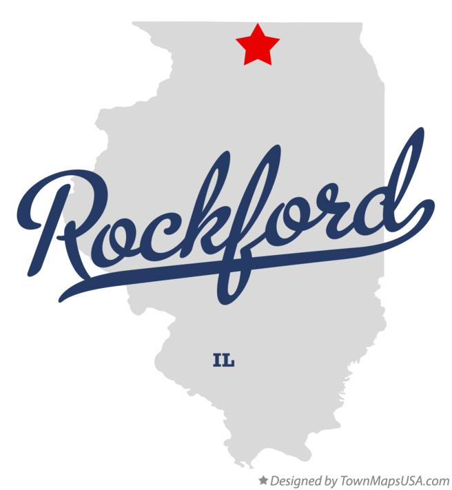 Map of Rockford Illinois IL
