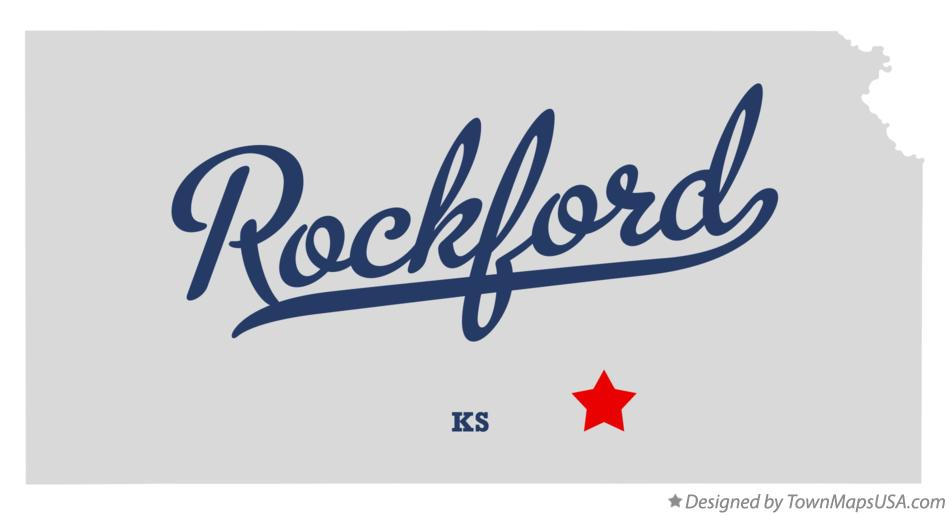 Map of Rockford Kansas KS