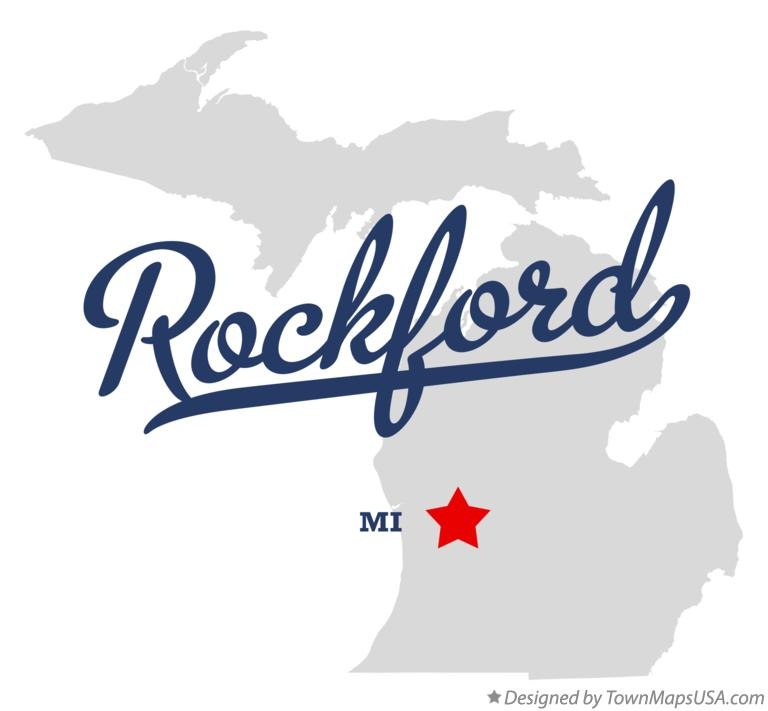 Map of Rockford Michigan MI