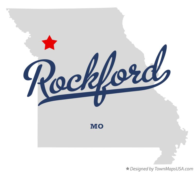 Map of Rockford Missouri MO