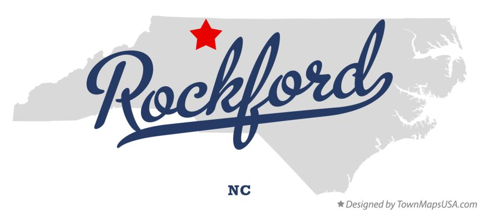 Map of Rockford North Carolina NC