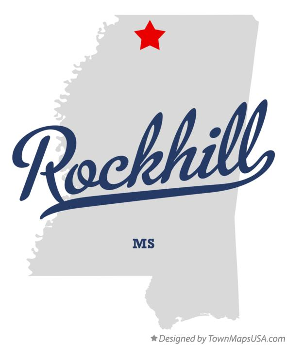 Map of Rockhill Mississippi MS