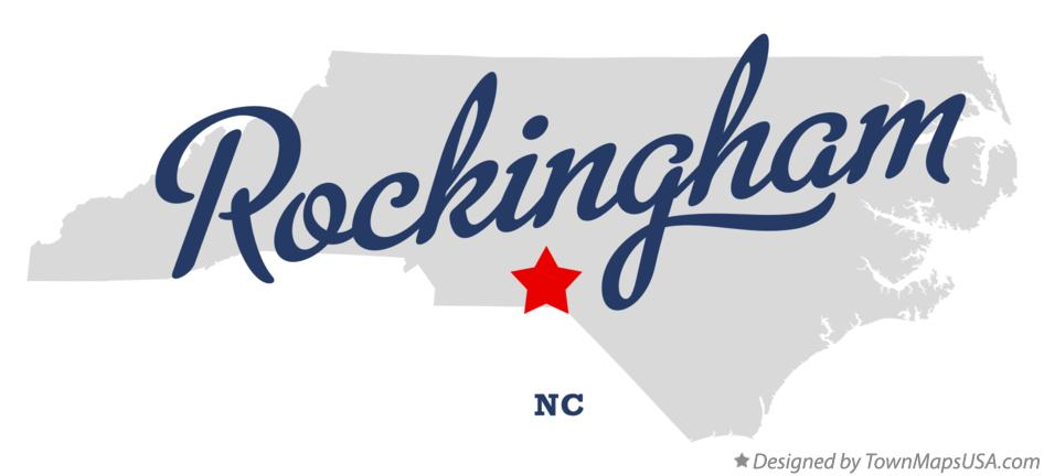 Map of Rockingham North Carolina NC
