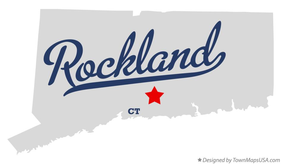 Map of Rockland Connecticut CT