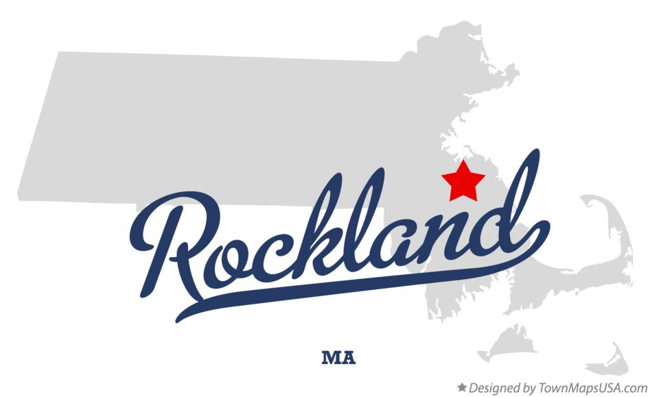 Map of Rockland Massachusetts MA
