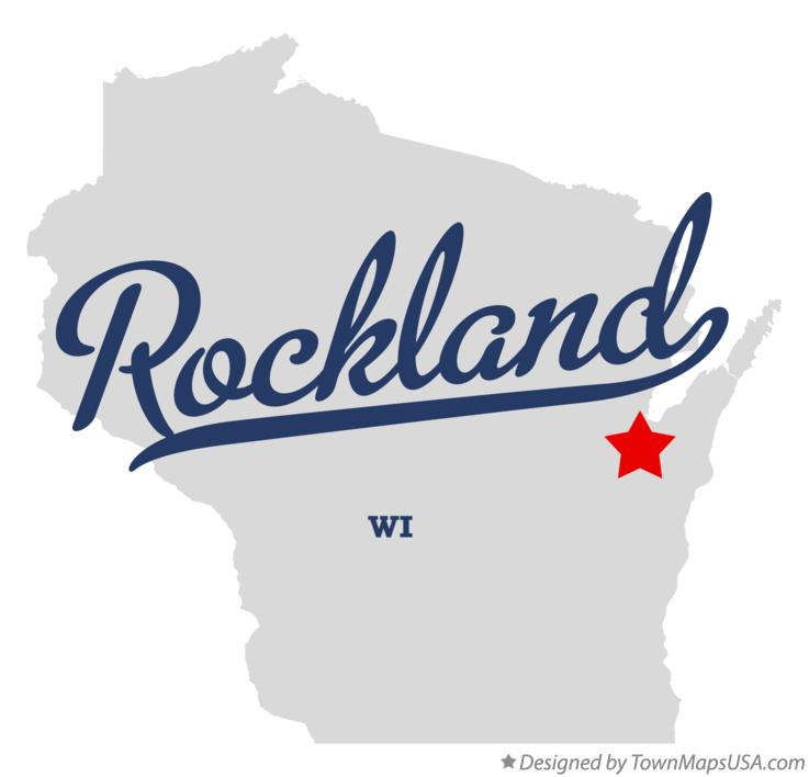 Map of Rockland Wisconsin WI