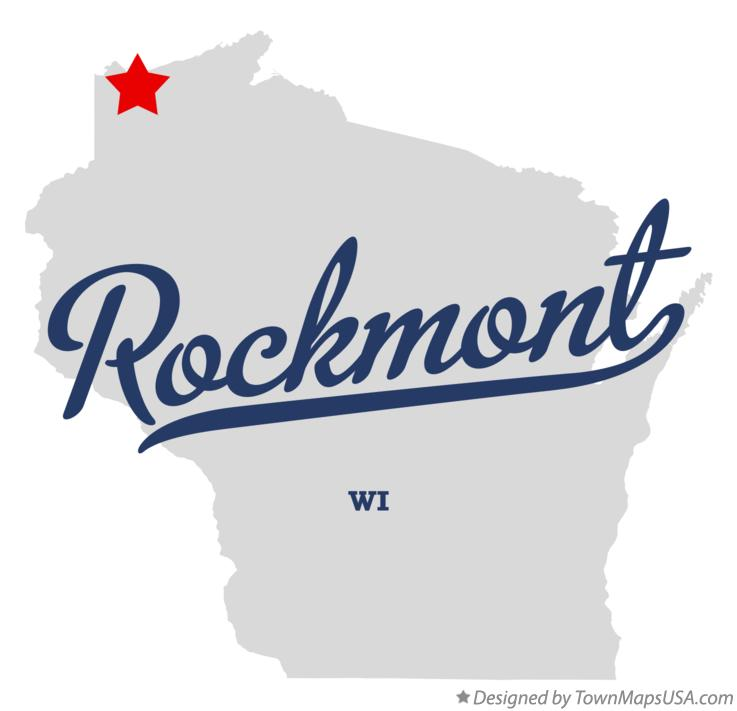 Map of Rockmont Wisconsin WI